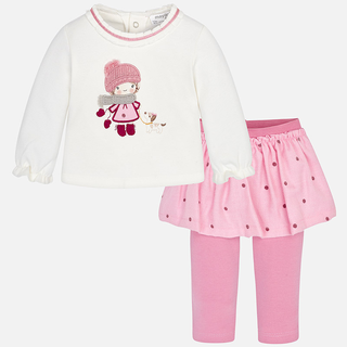 Mayoral Mädchen Baby-Set Rock-Leggings